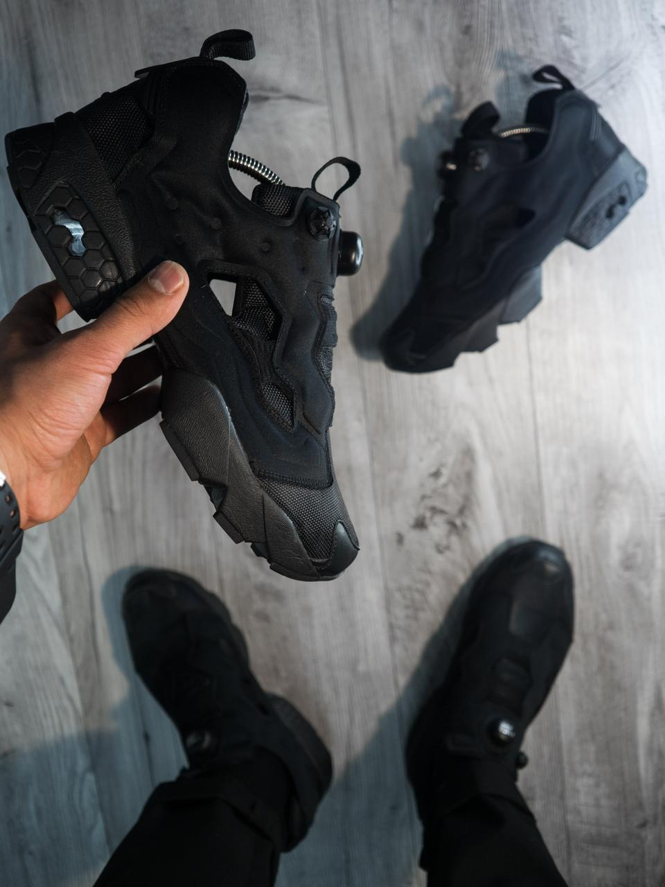 Мужские кроссовки Reebok Insta Pump Fury Черные (реплика) - Магазин одежды  и обуви - 550cea9fe3c