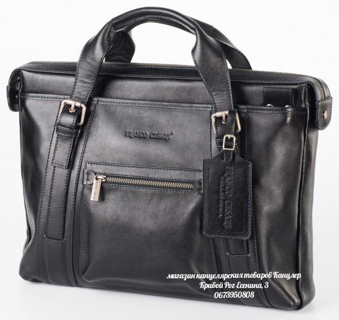 Портфель сумка выполненный из натуральной кожи