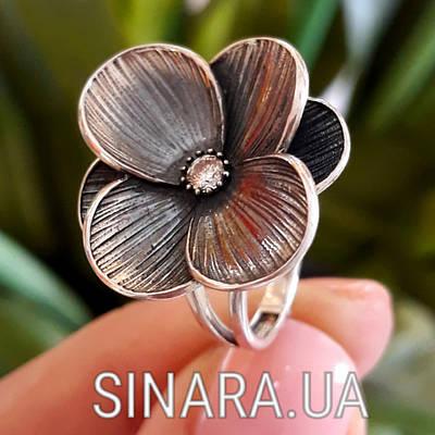 Серебряное кольцо Цветок