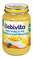 """Bebivita. Рыбно-овощное пюре """"Мини-лапша с морской рыбой и овощами"""", 190г (1038)"""