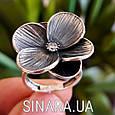 Серебряное кольцо Цветок, фото 5