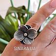 Серебряное кольцо Цветок, фото 2