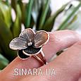 Серебряное кольцо Цветок, фото 3
