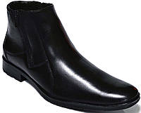 """Мужские зимние ботинки """"Mida"""". Натуральная шерсть. Черные"""