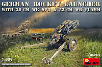 GERMAN ROCKET LAUNCHER with 28cm WK Spr & 32cm WK Flamm 1/35 MiniART 35269, фото 1