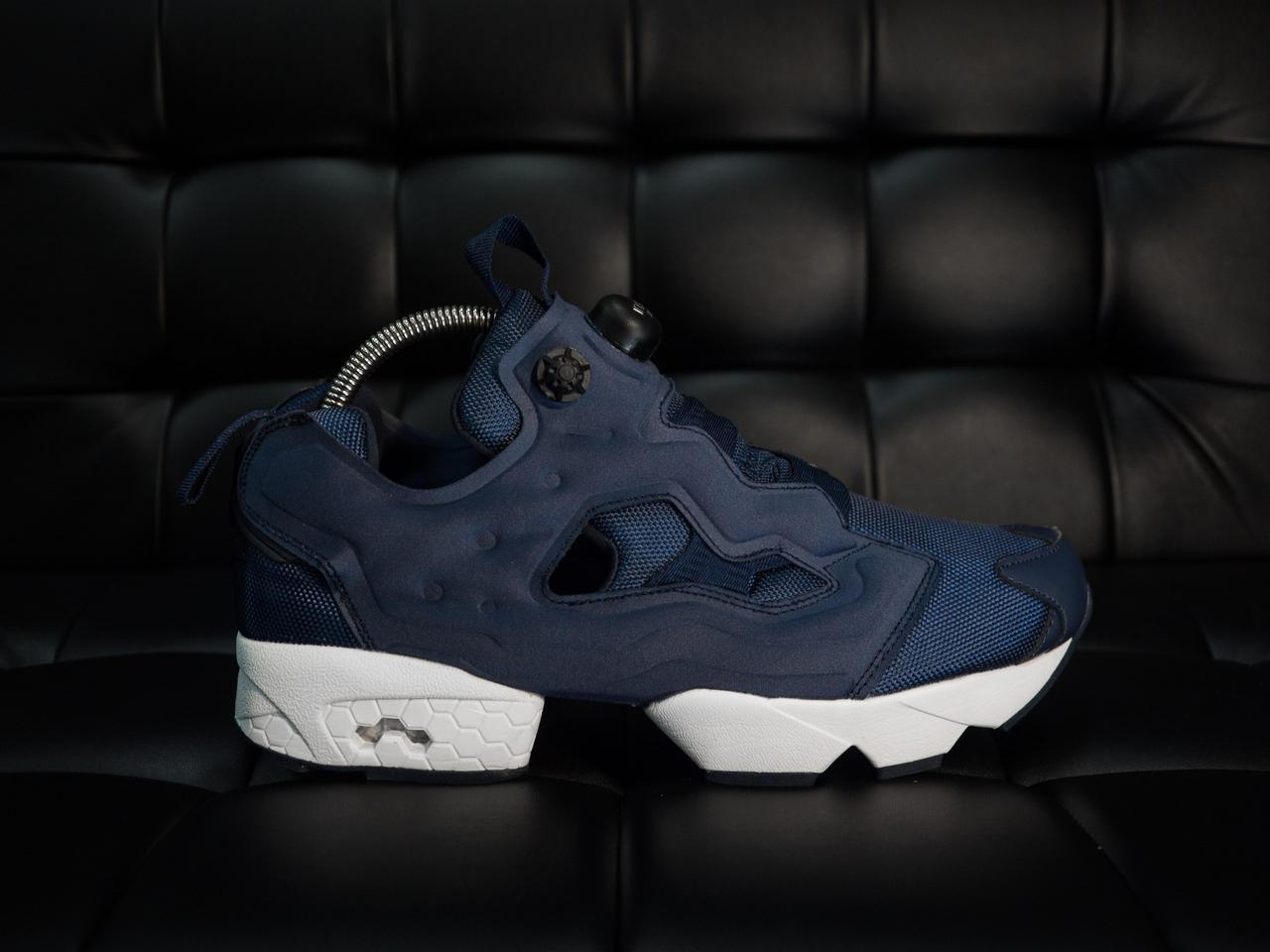 Мужские кроссовки Reebok Insta Pump Fury Синие белая подошва (реплика) -  Магазин одежды и f3ae8a5b395