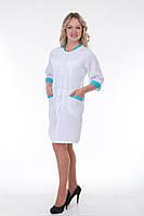 Медицинский  халат с вставкой на рукавах