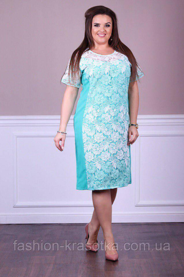 Женское нарядное платье в размерах:52,54,56,58.
