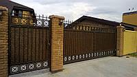 Ворота откатные кованые №7
