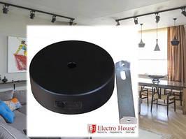 Основа (настенное крепление) индивидуальная черная для трековых светильников Electro House