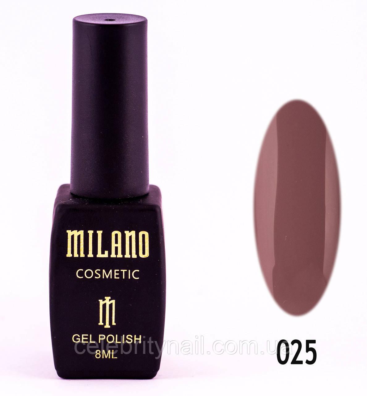 Гель лак Milano 025, 8 мл