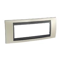 Рамка 6-местная Титановый/Графит Unica Top Schneider, MGU66.106.295