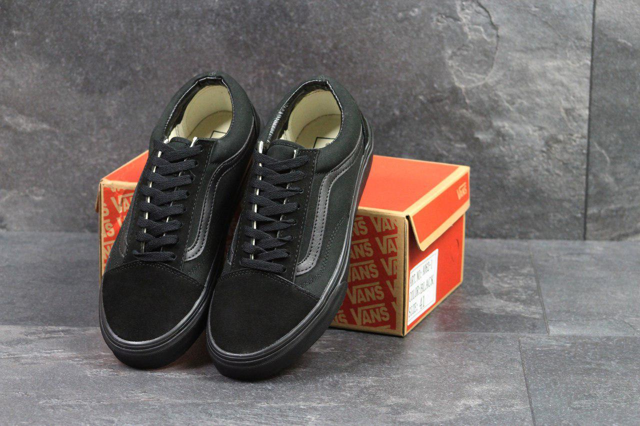 Мужские кеды Vans Old School (черные), ТОП-реплика