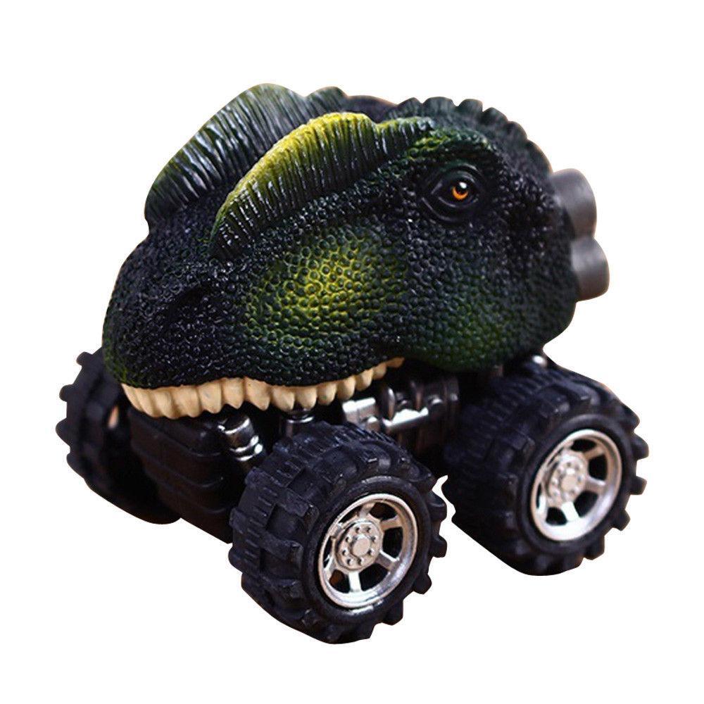 Игрушка SUNROZ Monster Car мини машинка голова динозавра Double Crown Dragon (SUN0723)