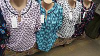 Летняя женская блуза ткань  штапель. Размеры 50-58