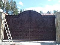 Ворота откатные кованые №9