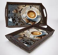 """Поднос на подушке """"СН"""" Кофе, фото 1"""