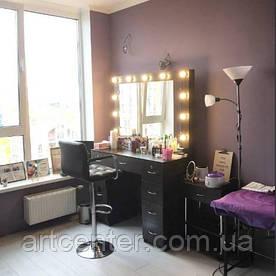 Стол гримерный двухтумбовый, столик туалетный, визажный стол
