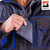 Куртка рабочая SteelUZ с синей отделкой, фото 4
