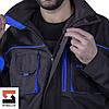 Куртка рабочая SteelUZ с синей отделкой, фото 5