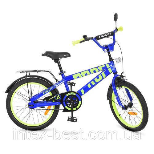 """Двухколесный велосипед Profi Flash 20"""" Синий (T20172)"""