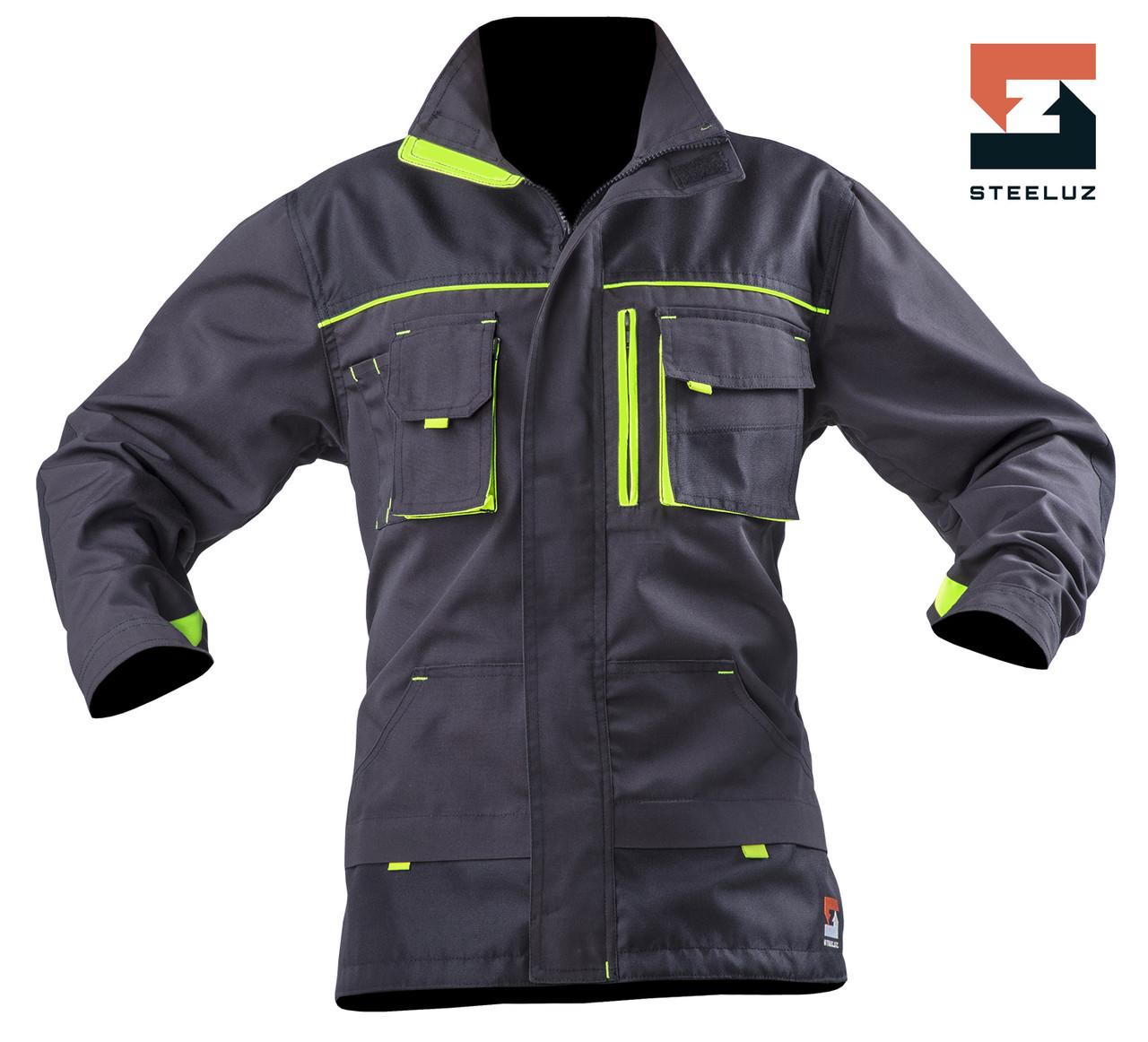 Куртка рабочая защитная SteelUZ с салатовой отделкой