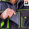 Куртка рабочая защитная SteelUZ с салатовой отделкой, фото 7