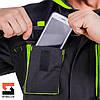 Куртка рабочая защитная SteelUZ с салатовой отделкой, фото 9