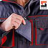 Куртка рабочая SteelUZ с красной отделкой, фото 9