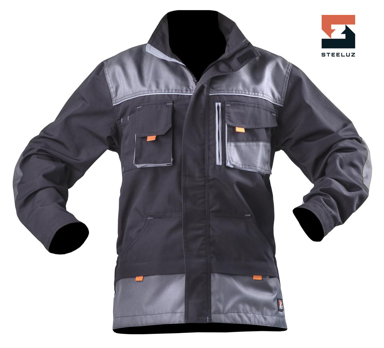 Чоловіча куртка робоча SteelUZ з світло-сірої обробкою