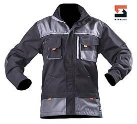 Мужская рабочая куртка SteelUZ с светло-серой отделкой