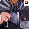 Чоловіча куртка робоча SteelUZ з світло-сірої обробкою, фото 5