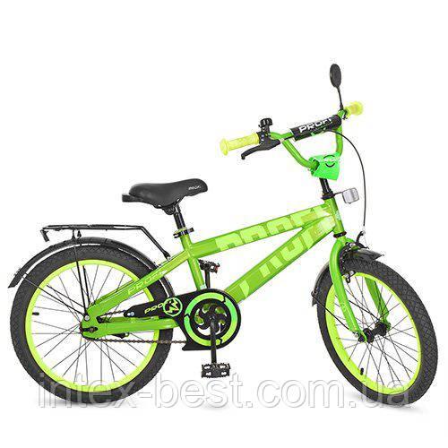 """Двухколесный велосипед Profi Flash 20"""" Салатовый (T20173)"""