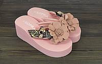 Стильные женские розовые шлепанцы Sopra, фото 1