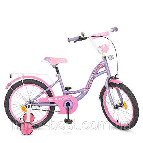 """Детский двухколесный велосипед Profi Butterfly 18"""" Фиолетовый (Y1822)"""