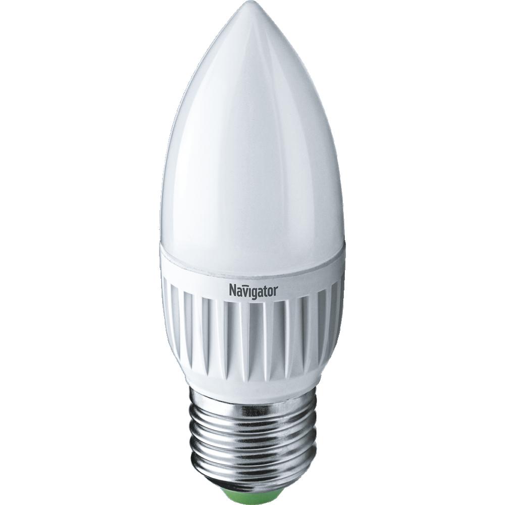 Лампа Navigator 94483 NLL-P-C37-5-230-4K-E27-FR світлодіодна свічка матова, (УКТЗЕД: 8543709000)
