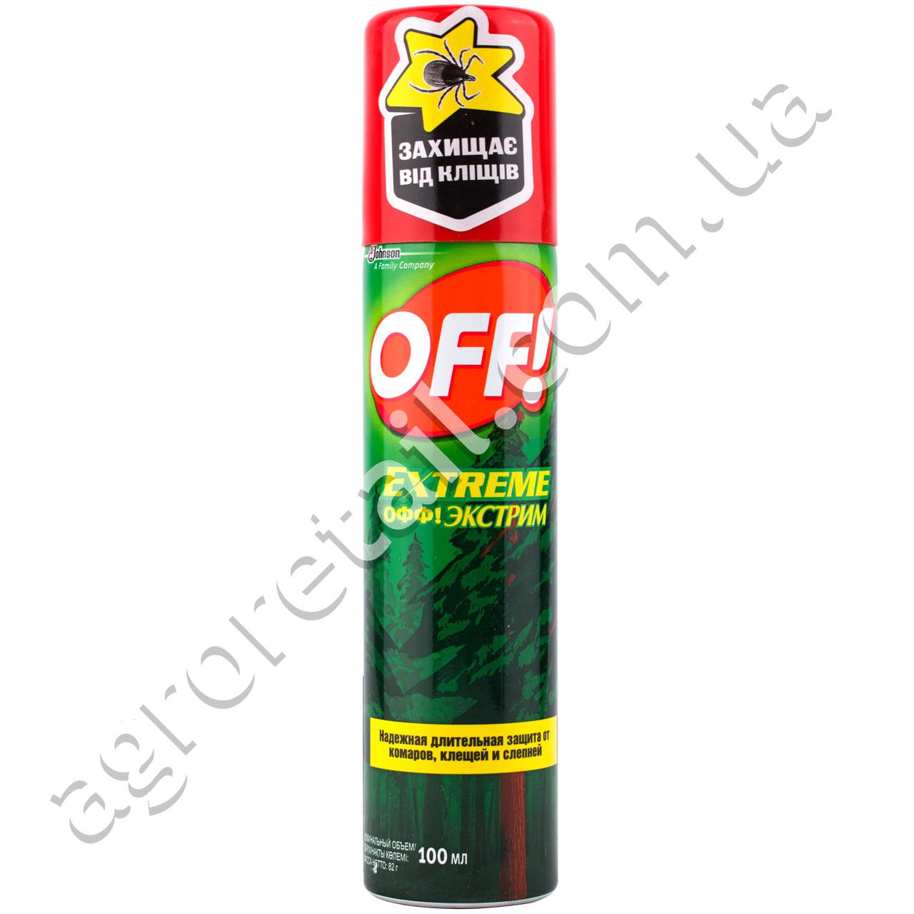 Аэрозоль от комаров Off Extreme 100 мл