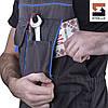 Полукомбинезон рабочий SteelUZ с синей отделкой, фото 4