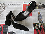 Комфортные туфли Limoda из натуральной кожи босоножки на каблуке 6 см очень красивые цвет черный, фото 7