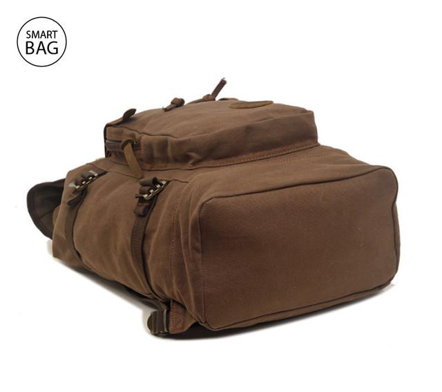 Коричневый городской брезентовый рюкзак Augur