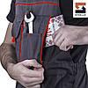 Полукомбинезон рабочий SteelUZ с красной отделкой, фото 6