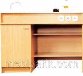 Стол демонтарционный для кабинета химии с мойкой и с розетками