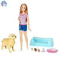 Кукла Барби и собака с новорожденными щенками Barbie Newborn Pups