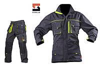 Костюм рабочий SteelUZ куртка и брюки, салатовая отделка, фото 1