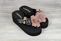 Стильные женские черные шлепанцы Sopra, фото 1