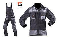 Костюм рабочий SteelUZ  куртка и полукомбинезон, светло-серая отделка, фото 1