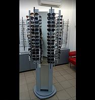 Трьохсторонній обертовий стенд для окулярів, 90 місць. Св-90 пм., фото 1