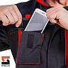 Костюм рабочий защитный SteelUZ куртка и полукомбинезон, красная отделка, фото 7