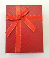 Коробочка подарункова з червоним бантиком 7 см * 9 см., фото 1