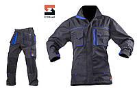 Костюм рабочий SteelUZ куртка и брюки, синяя отделка, фото 1